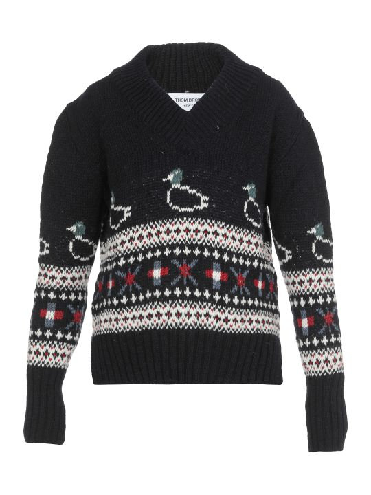 Thom Browne Jacquar Sweater