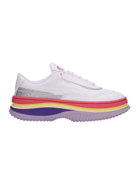Puma Deva 90 S Sneakers In White Leather