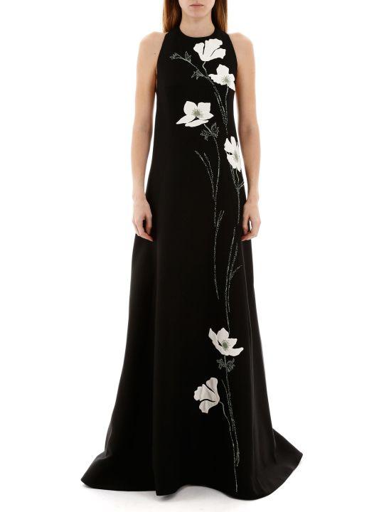Valentino Dress With Flowers Inlay