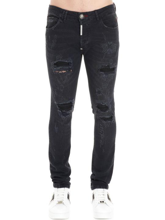 Philipp Plein 'super Straight Cut Destroyed' Jeans