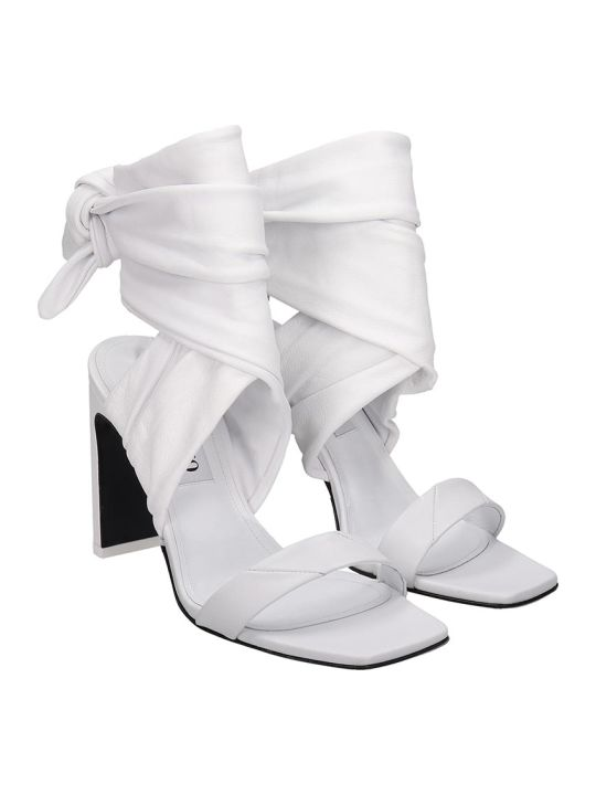 The Attico Sandals In White Tech/synthetic