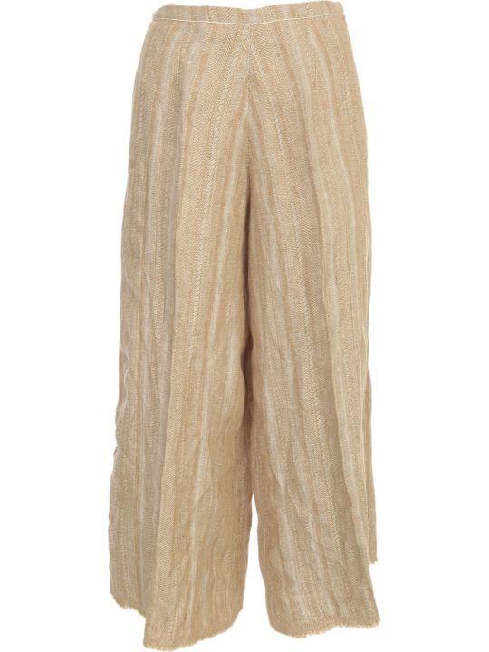 Forte_Forte Cotton Linen Herringbone Fringed Pants