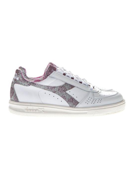 Diadora B Elite H Paisley White Leather Sneakers