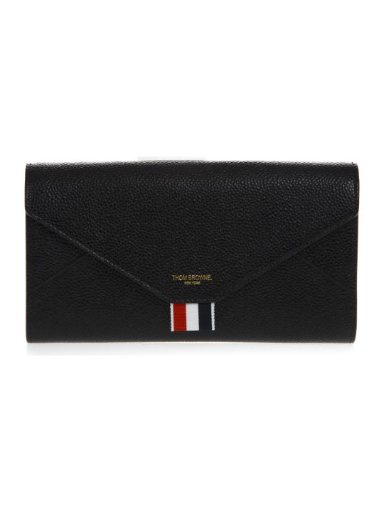 Thom Browne Black Leather Versatile Wallet