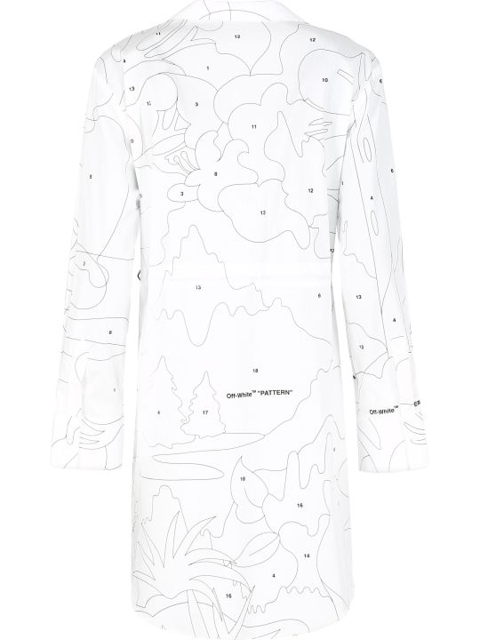 Off-White Cotton Shirt Dress