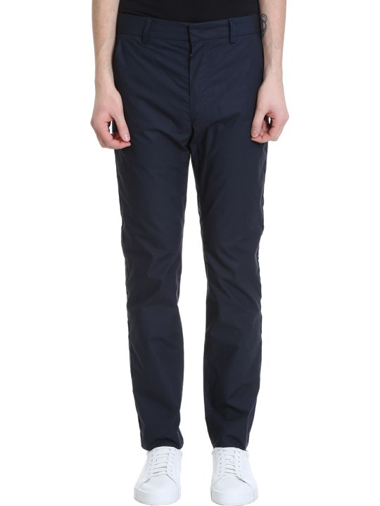 Maison Flaneur Blue Cotton Pants