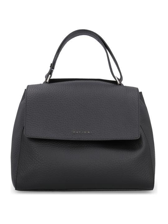 Orciani Sveva Medium Pebbled Leather Handbag