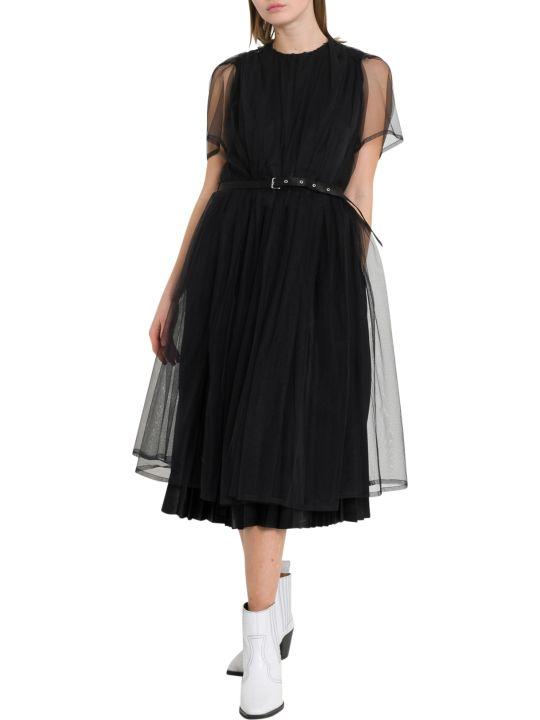 Noir Kei Ninomiya Short Sleeve Midi Dress
