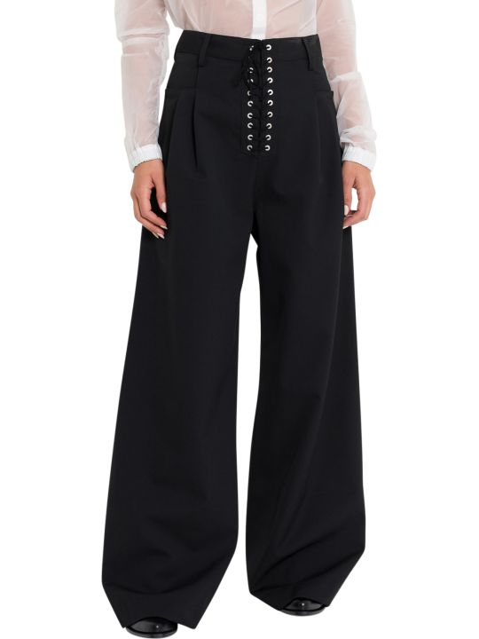 Ben Taverniti Unravel Project Lace Up Palazzo Trousers