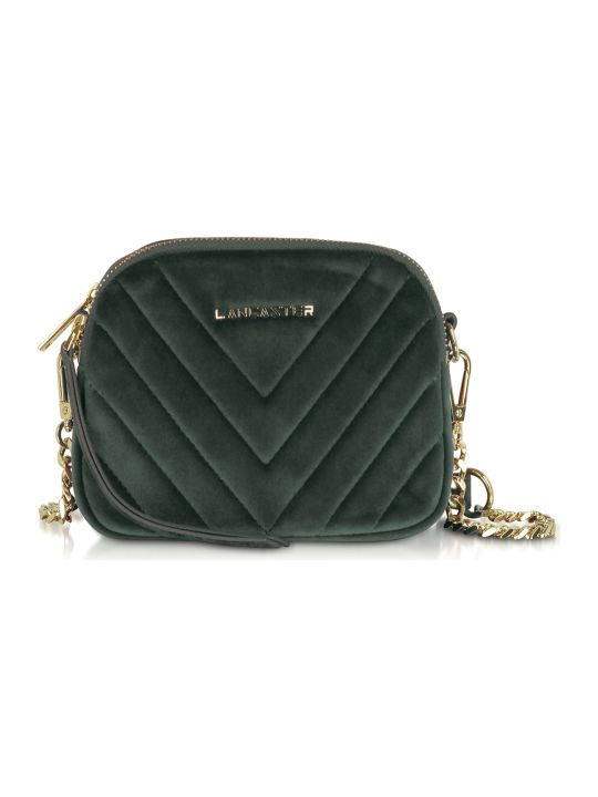 Lancaster Paris Quilted Velvet Couture Mini Camera/belt Bag