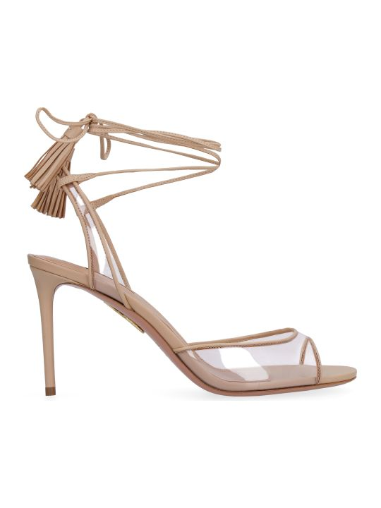 Aquazzura Nudist Leather Sandals
