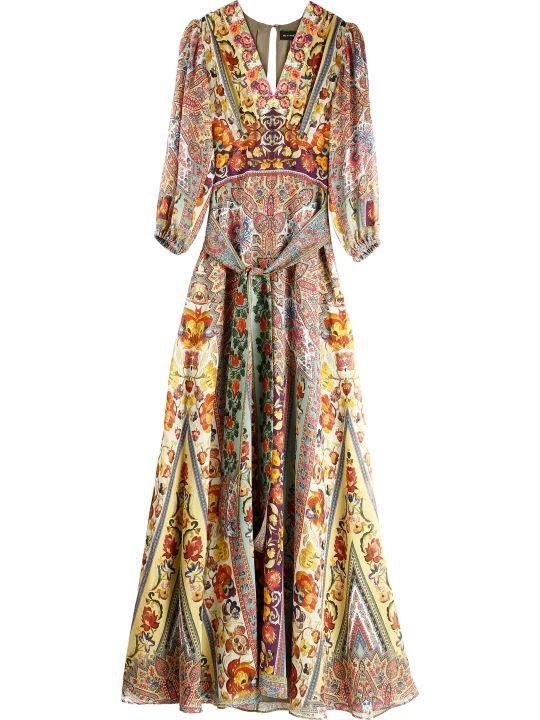Etro Printed Silk Maxi-dress