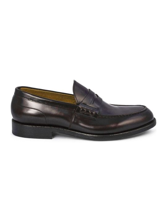 Green George Brown Polished Leather Loafer