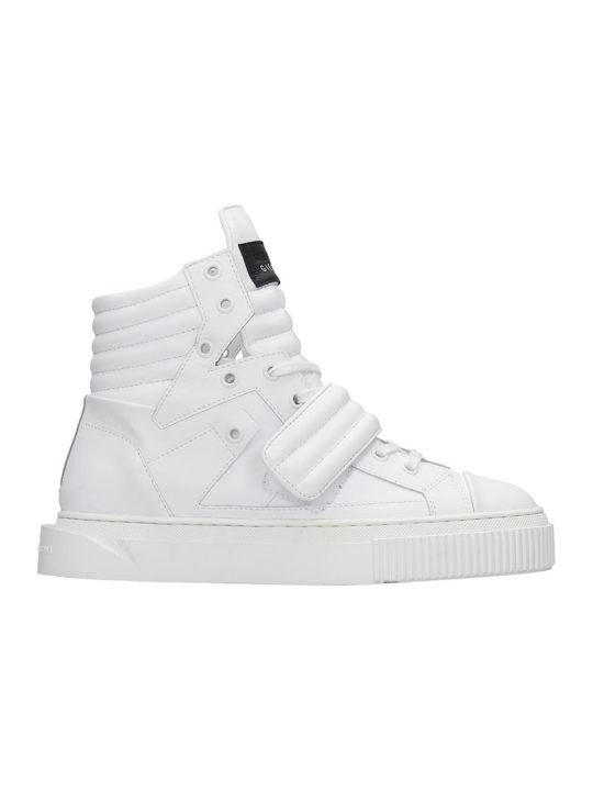 Gienchi Hypnos Sneakers In White Rubber/plasic