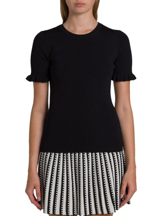 MICHAEL Michael Kors Knit Top With Ruffles On Sleeve