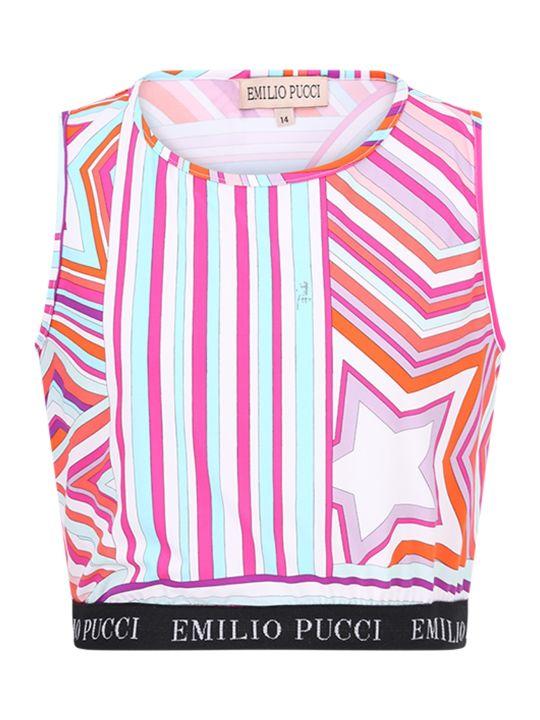 Emilio Pucci Multicolor Girl Top With White Logo