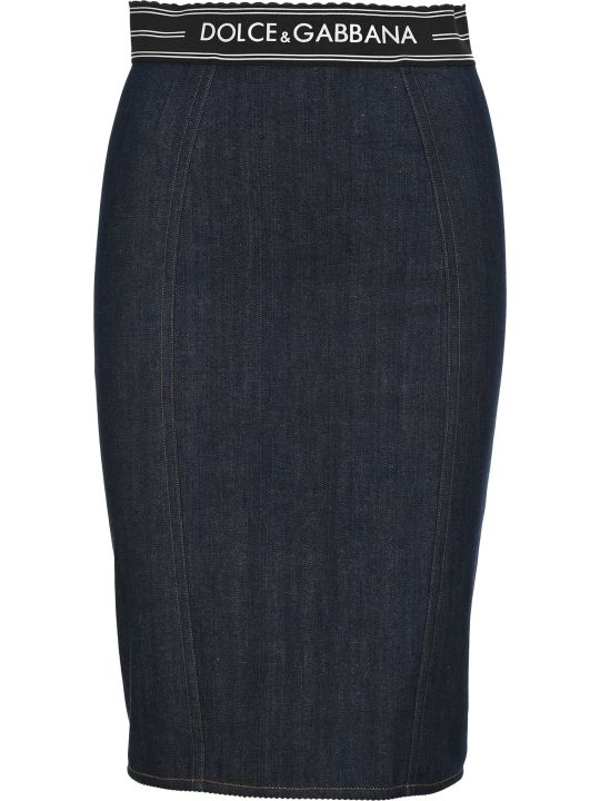 Dolce & Gabbana Dolce&gabbana Denim Pencil Skirt