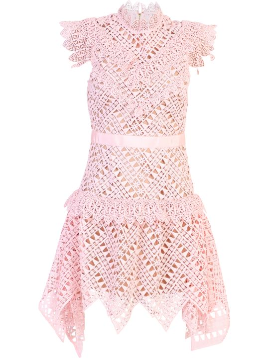 self-portrait Pink Short Dress