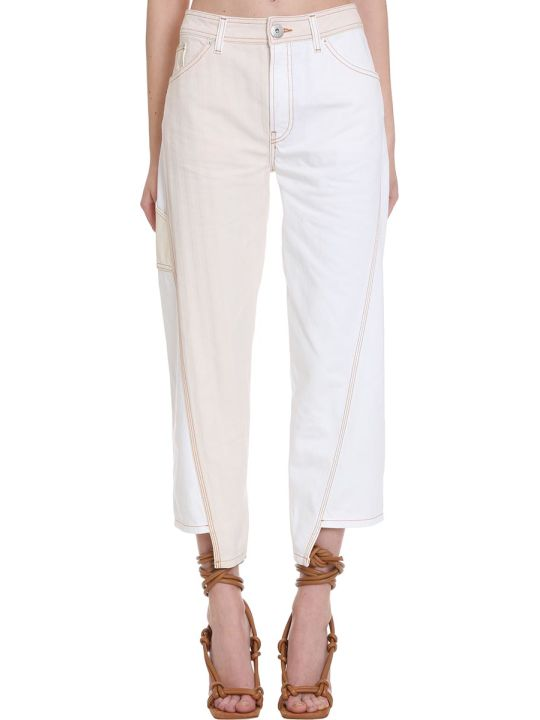 Lanvin Jeans In White Denim