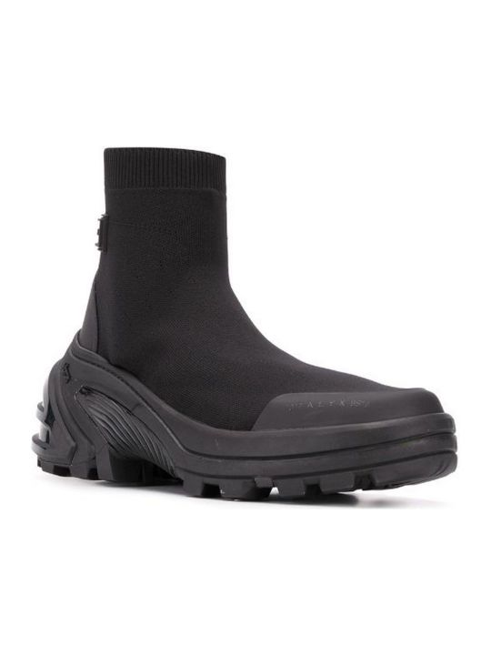 1017 ALYX 9SM Sock-style Knit Ankle Boots