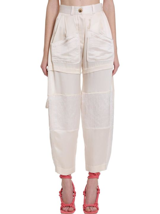 Lanvin Pants In Beige Silk