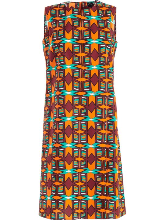 Aspesi Macro Square Print Dress