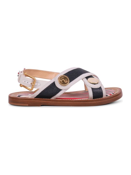 Thom Browne Navy Criss Cross Sandals