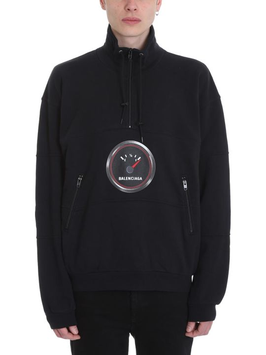 Balenciaga Black Cotton Sweatshirt