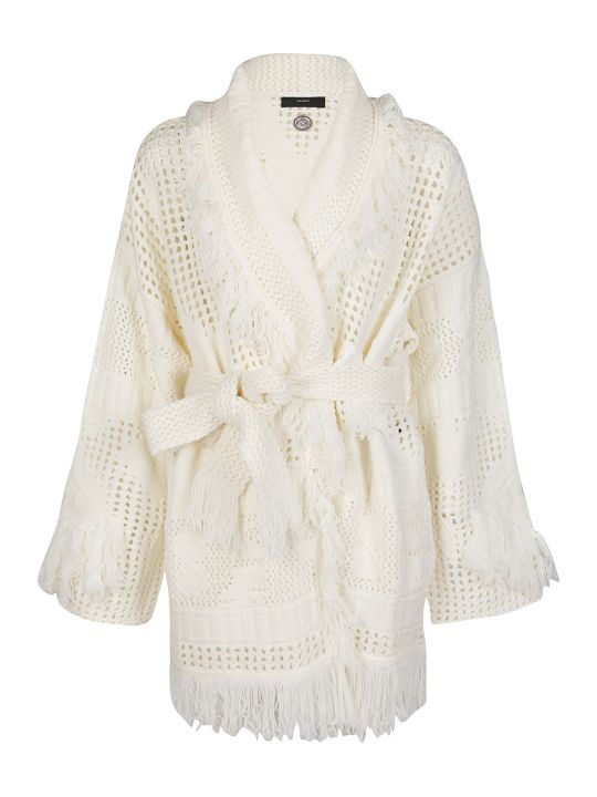 Alanui White Wool Cardigan