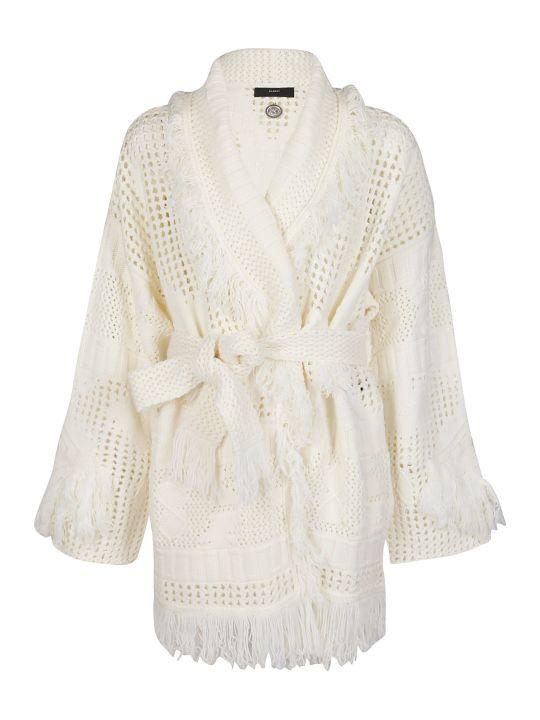 Alanui White Wool Cardigan