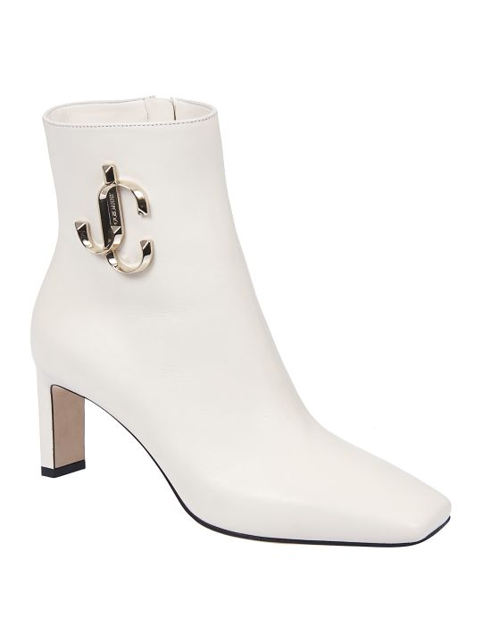 Jimmy Choo Logo Plaque Ankle Boots