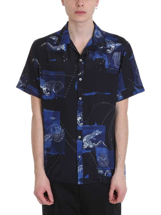 Lanvin Blue Multicolor Viscose Shirt