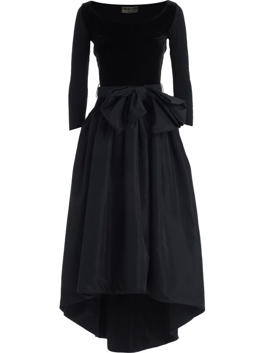 La Petit Robe Di Chiara Boni Dress L/s Long Velvet Bustier W/bow