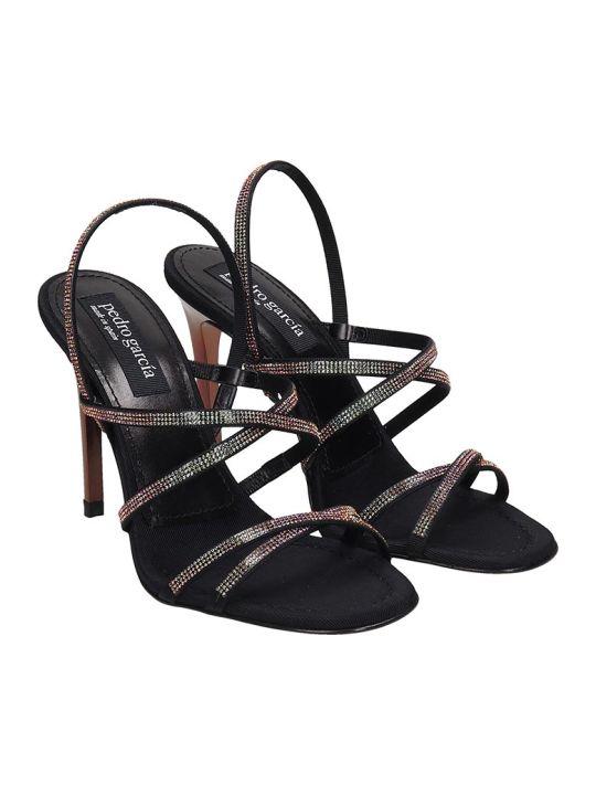 Pedro Garcia Rea Sandals In Black Leather