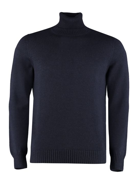 Drumohr Long Sleeve Wool Turtleneck