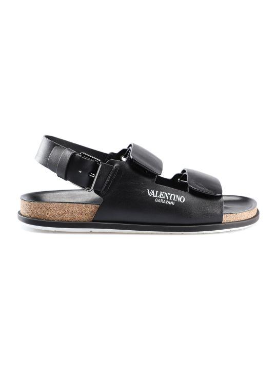 Valentino Garavani Logo Print Sandals