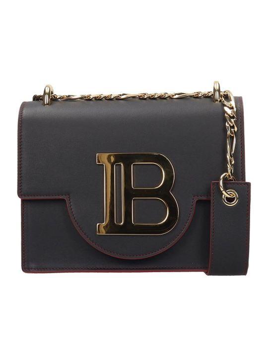 Balmain Black Calfskin B Bag 21 Bag