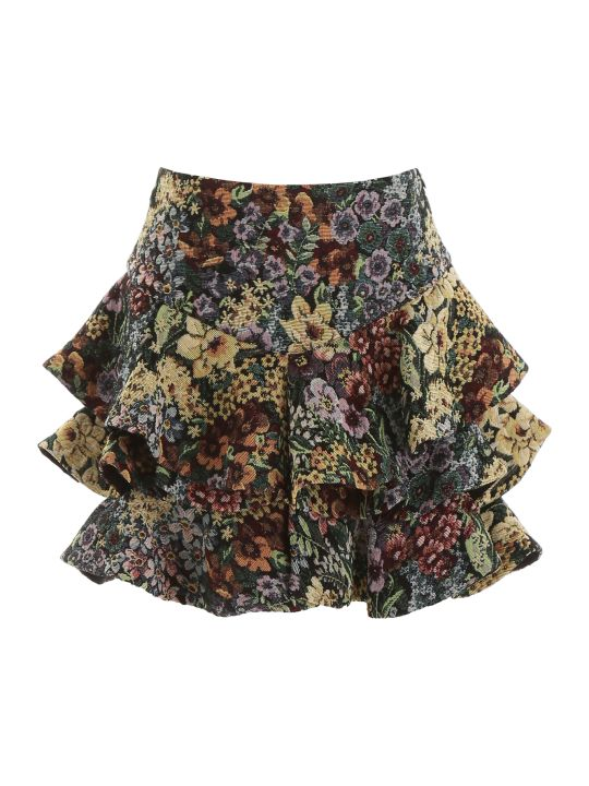 WANDERING Ruffled Mini Skirt