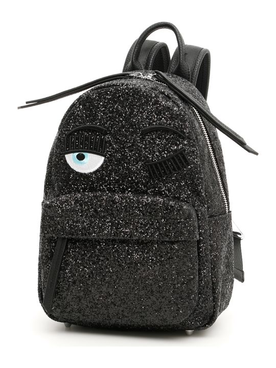 Chiara Ferragni Small Glitter Flirting Backpack