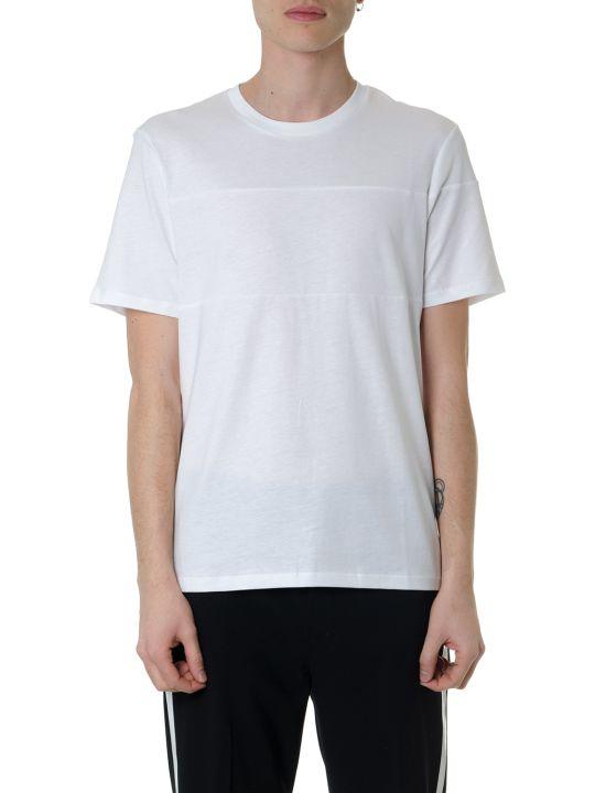 Helmut Lang White Cotton T-shirt With Helmut Lang Written