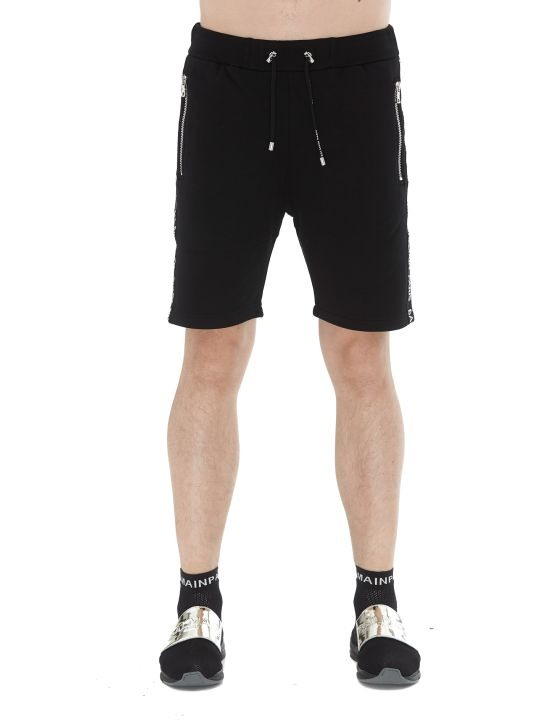 Balmain Basketball Logo Shorts