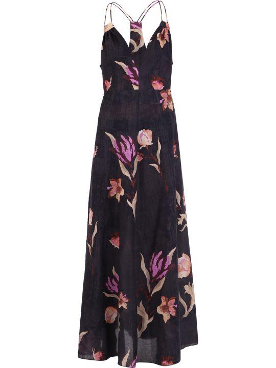 Nanushka Floral Print Cotton Dress