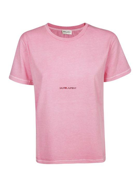 Saint Laurent Logo Printed T-shirt
