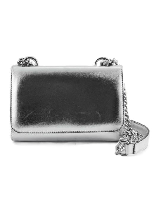 Roberto Festa Silver-tone Laminated Leather Clutch