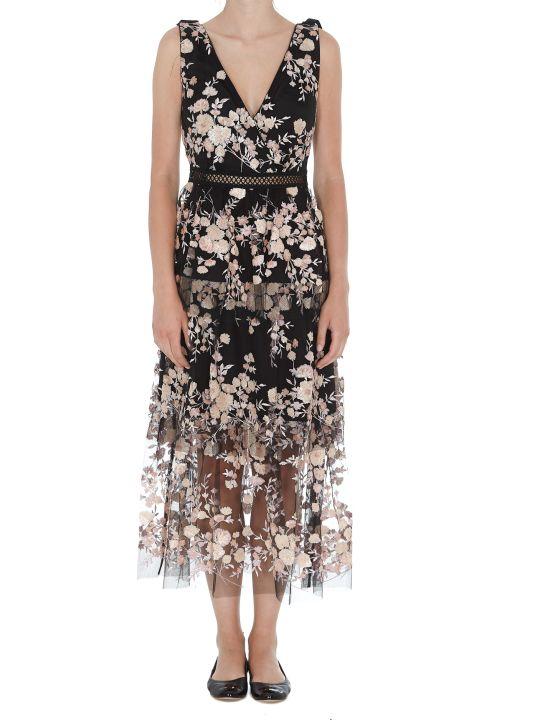 self-portrait Sleeveless Midi Dress