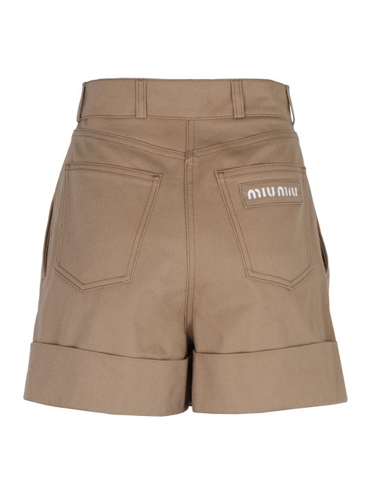 Miu Miu Cotton Shorts