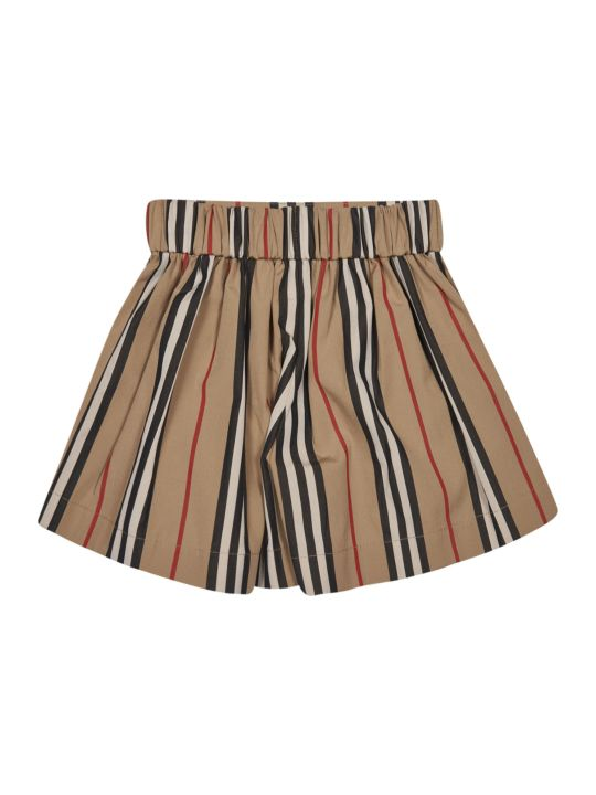 Burberry Stripe Print Button-embellished Skirt