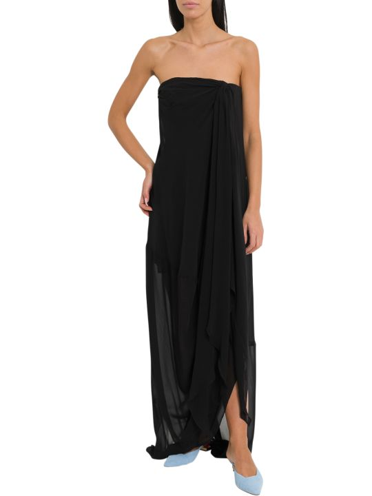 Jacquemus Off -the-shoulders  Long And Draped Dress