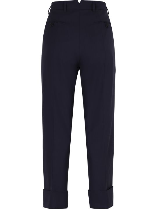 Prada Virgin Wool Tailored Trousers