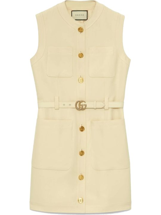 Gucci Gilet With Leather Belt/gilet Cinturino